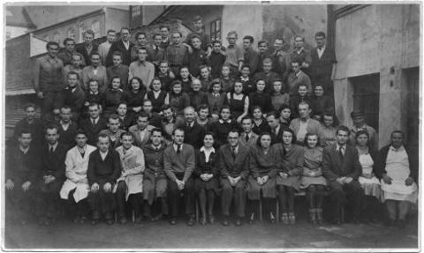 zaměstnanci továrny Jindřich Suchánek Brno